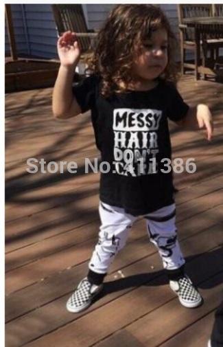 ST189 2017 Nowa dziewczyna przyjazdu i chłopców ubrania ustawić długi rękaw + Spodnie sowa wzór zestaw noworodka ubrania dla dzieci garnitur dzieci odzież 66