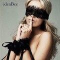IdeaBee Vinculado Em Algemas Amarrado Flertando Lingerie Sexy Mulheres Prisioneiros Negros Óculos de Brinquedo Sexy (Anéis de Mão + Óculos) Vendas quentes