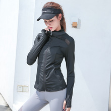 Winter Women Sport Jacket Long Sleeve Full Zip Up Jacket Sweater Patchwork Sweatshirt Running Jogging Fitness Gym Workout Jacket