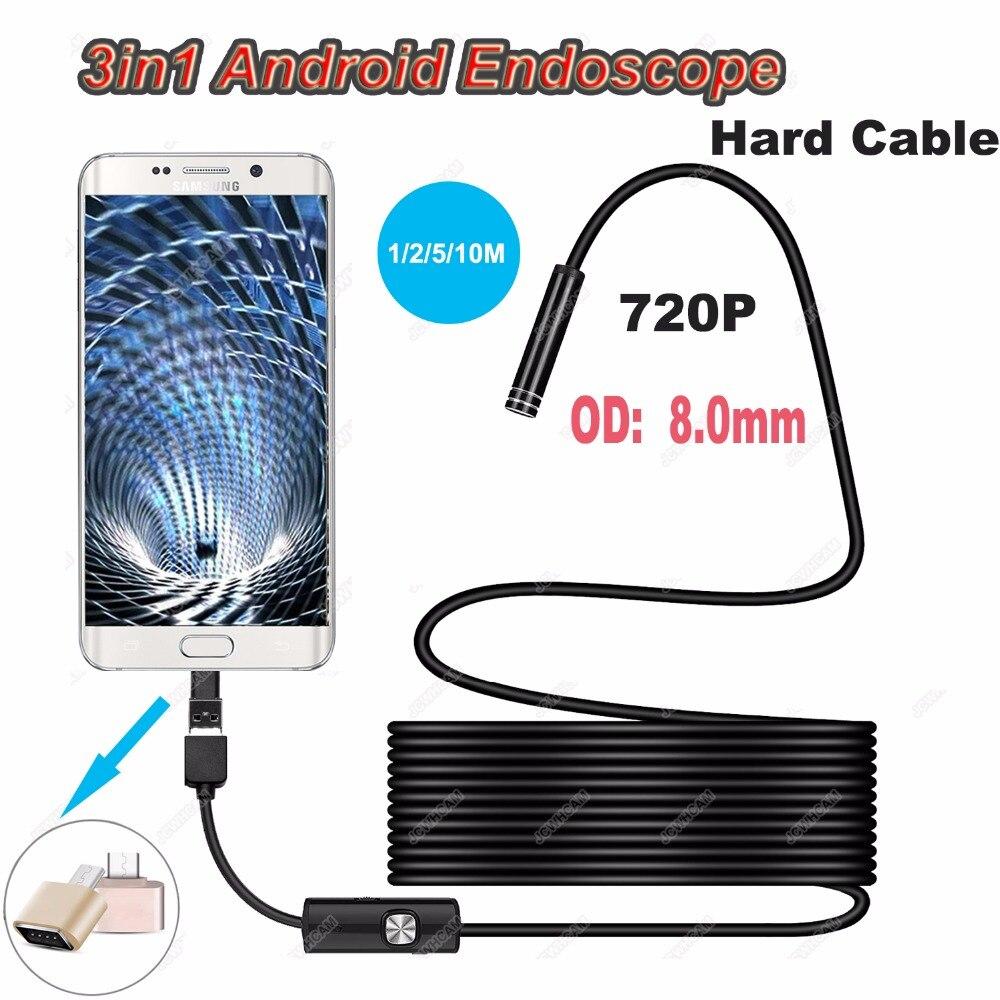 Gut Ausgebildete Typ-c 720 P 8mm Harte Kabel Android Rollenmaschinenlinie Typc Usb Endoskop Mini Kamera Wasserdicht Inspektion Überwachung Schlange Industrie Kamera Modernes Design Werkzeuge