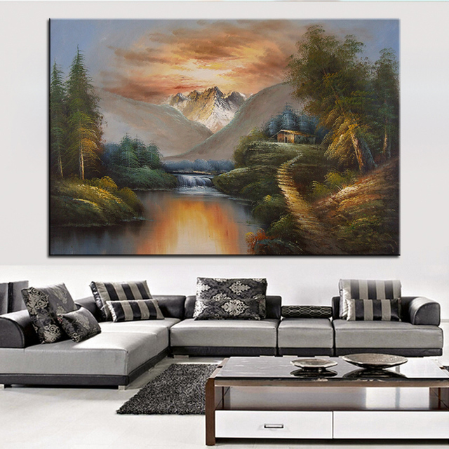 Extra Large Wall Painting Of Fine Scenery Home Office Decoration Paint Canvas Prints No Framed