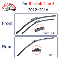 KIT Silicone Rubber Front And Rear Wiper Blade For Renault Clio 4 2012 Onwards Windscreen Wiper