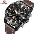 Luxus Marke NAVIFORCE Männer Military Sport Uhren herren Quarz Analog Digital Uhr Mann Leder Armbanduhr Relogio Masculino
