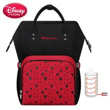 Disney Diaper baby bag for mother wet bag USB insulation bolsa Mummy Maternity Nappy Stroller Bag Large Capacity Mickey mouse все цены