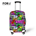 Elastic Luggage Protective Dust Cover Waterproof Graffiti Printing Travel Suitcase Cover to 18/20/22/24/26/28/30inch Case