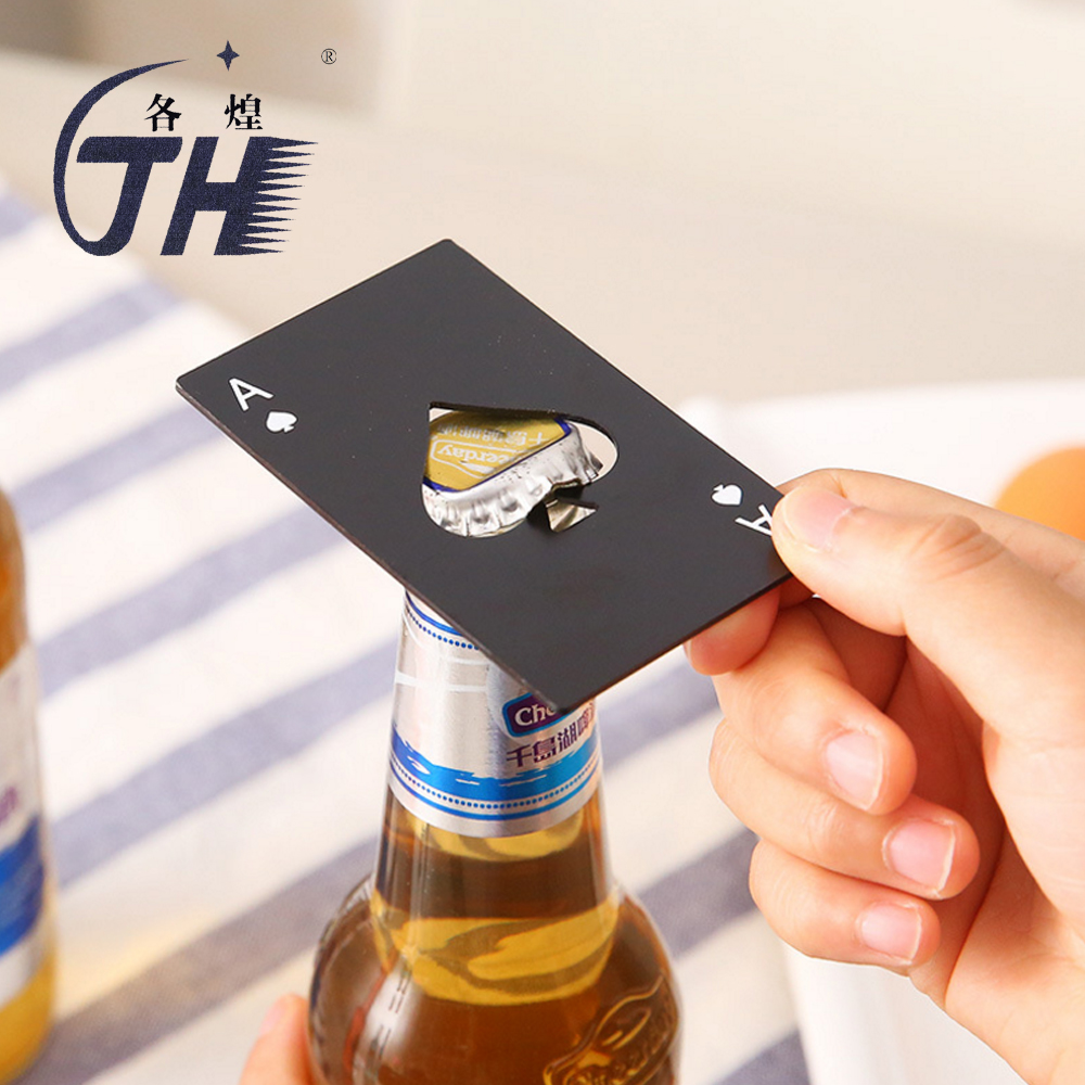 1pc Creative Poker Card Bottle Opener For Cap Cover Opening Portable Mini Ouvreur Abrelatas Abridor Kitchen Gadgets Gifts