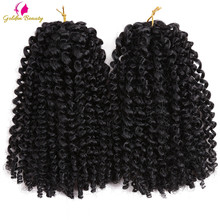 Golden Beauty Marley Curly Crochet Braids Hair Ombre Synthet