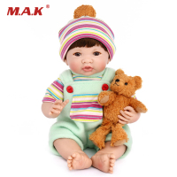 35cm Silicone Reborn Baby Doll Cute 50cm Toys For Kids Birthday Gift With Changable Clothes