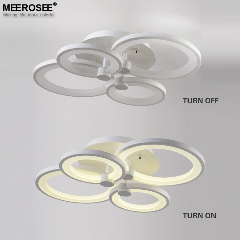 White Led Ceiling Light Fixture Ring Re Flush Mounted Lamparas De Techo Colgante Modern For Dining Sitting Bedroom In Lights From