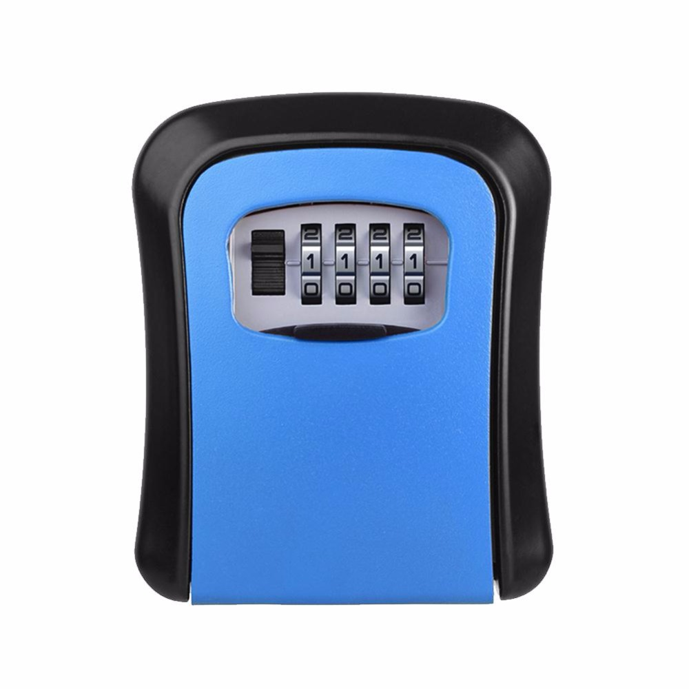 4 Digit Password Key Lock Case Safe Box Wall Mounted Lock Box Storage Lock Digit Security Jewelry Security Box