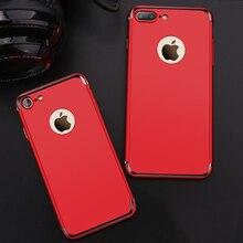 Для iPhone 7 Plus покрытие ПК Жесткий защитный телефон чехлы для iPhone 6 6S плюс крышка Роскошные ультра тонкий броня чехол противоударный