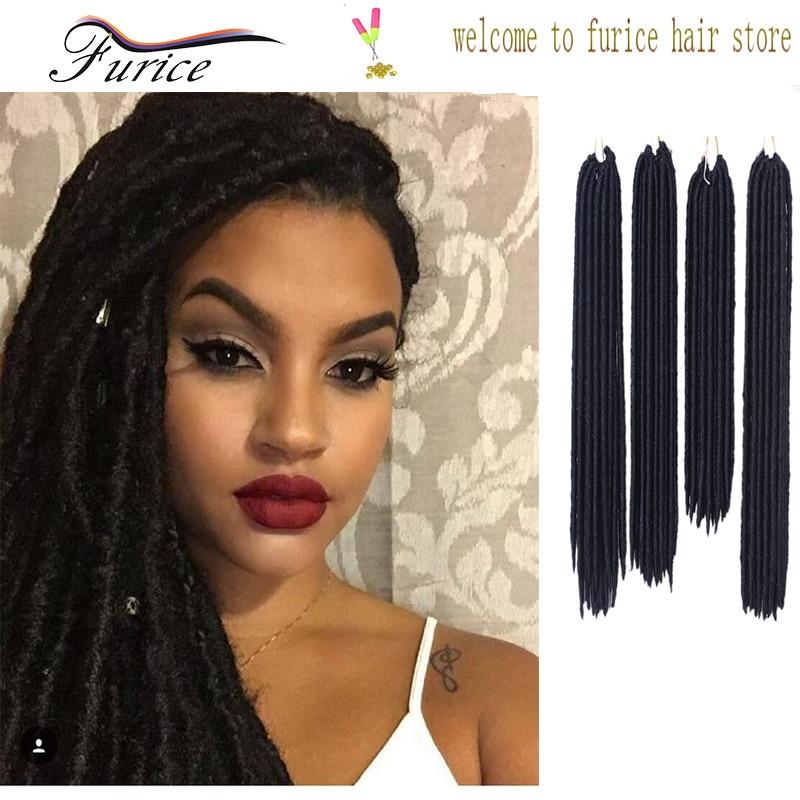 Cheap Goddess Faux Locs Crochet Hair Extension 14 Inch 18 Inch 24