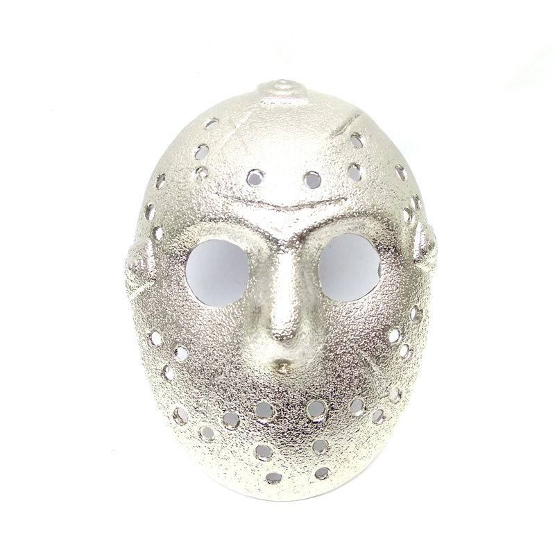Drop shipping Friday the 13th jason voorhees silver mask 3D belt buckle high quality met ...