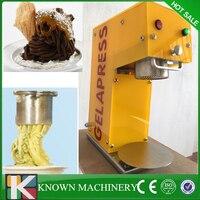 Crème Glacée commerciale cinq formes De Nouilles Maker Spaghetti gelato formant la fabrication de crème glacée molle machine livraison gratuite