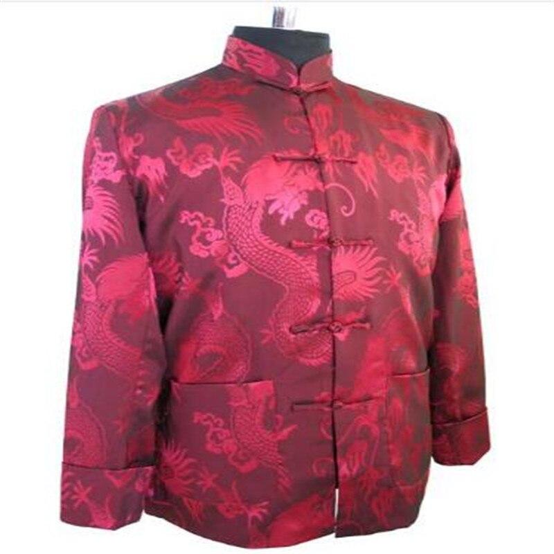 Высокое качество Темно-синие Для мужчин шелковый атлас куртка новинка Wu Шу пальто Тан костюм дропшиппинг Размеры размеры S M L XL XXL, XXXL
