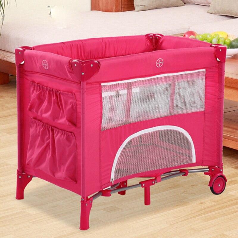 100% Wahr Geniune Neue Marke Neue Baby Bettwäsche Krippen Kompakt Und Tragbare Faltbare Baby Bett Laufstall Betten