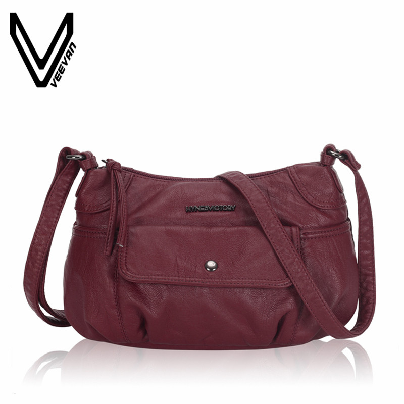 VEEVANV New Women Messenger Bag High Quality Female Leather Shoulder Bag Female Small solid Crossbody Bag Ladies Handbag Fashion new arrive women leather bag fashion zipper handbag high quality medium solid shoulder bag summer women messenger bag