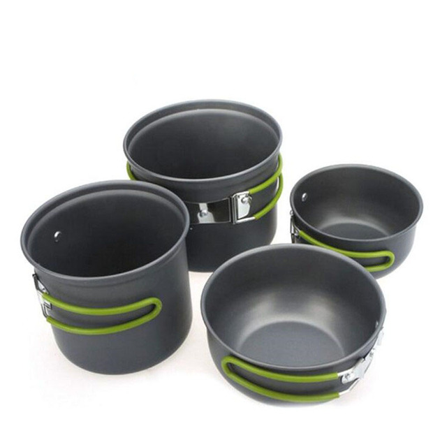Camping Pot Set Bowl Spoon Ultralight Portable Cookware Outdoor Climbing Hiking Cooking Equipment Picnic