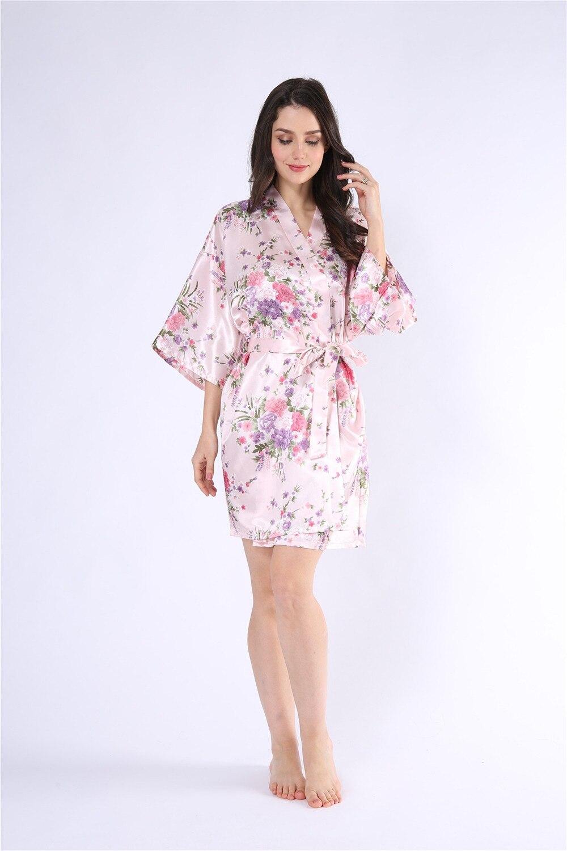 CEARPION Bridesmaid Robe Kimono Night Gown Bride Sleepwear Print ... 6bb40bdf0fa8