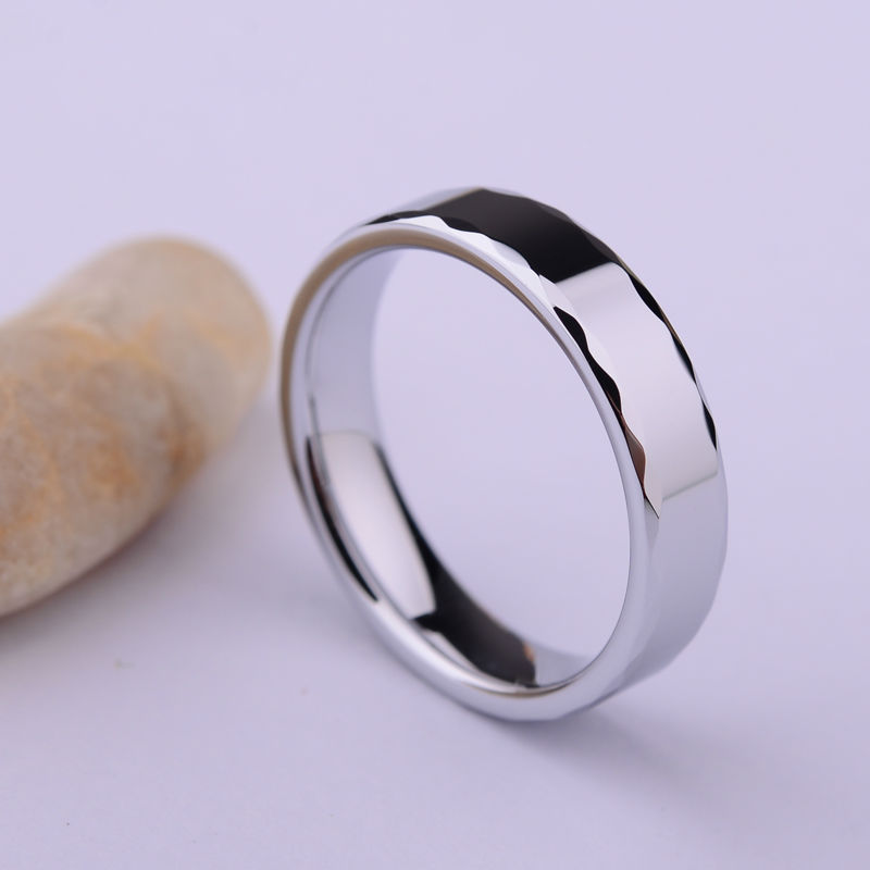 High Polished 85.7% White Tungsten Carbide Rings Wholesale 3.5mm/5mm Width Comfort Fit Band Size 4-13 Free Shipping