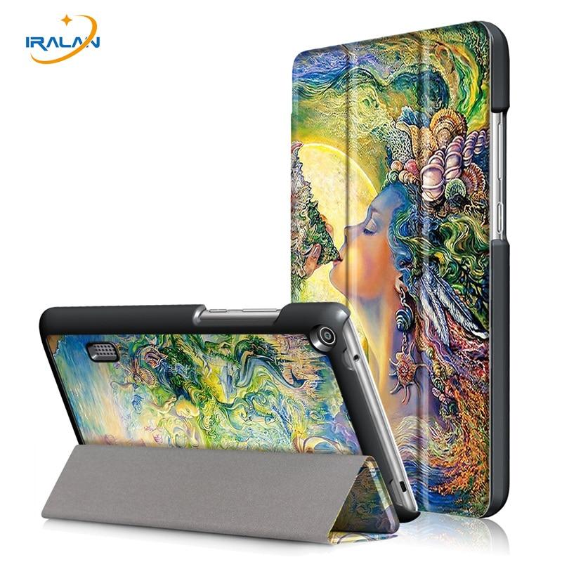 Nouveau PU Étui En Cuir pour Huawei MediaPad T3 7.0 BG2-W09 Smart Stand Funda Tablet Couverture pour Huawei MediaPad T3 7 + écran film + stylo