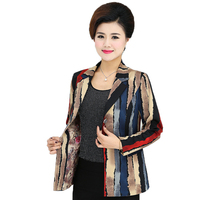 Middle Aged Women S Casual Slim Fit Blazer Office Lady Colour Suit Jackets Woman Notched Collar