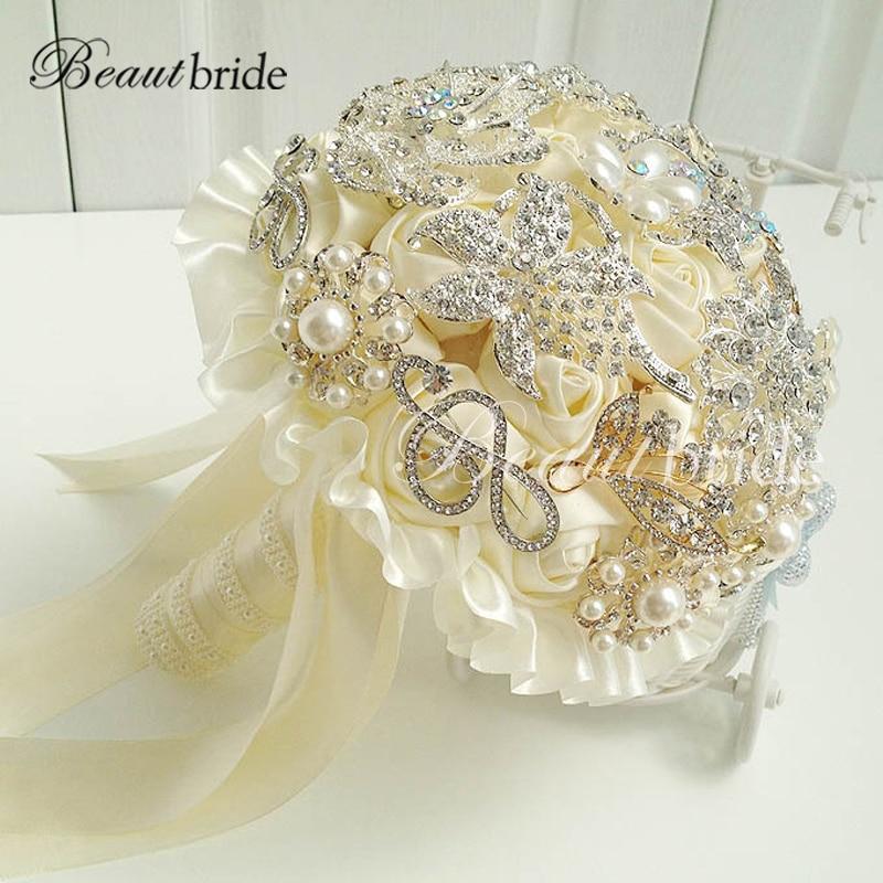 Wholesale Flowers For Weddings Events: Beautbride Wholesale Most Luxury Beaded Crystal Wedding