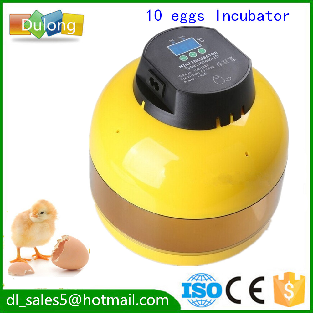 1Pcs 10-Egg China Mini Egg Incubator Poultry Chicken Goose Quail Duck Egg Incubator Chicken incubator full automatic egg hatcher machine for chicken duck pigeons quail parrot turtle bird incubation