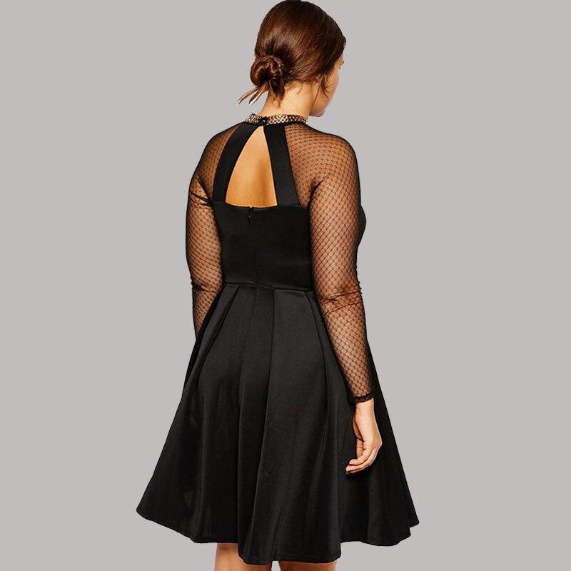 Wholesale Suit Vestidos Femininos Skater Dress With Chain Trim Long ...
