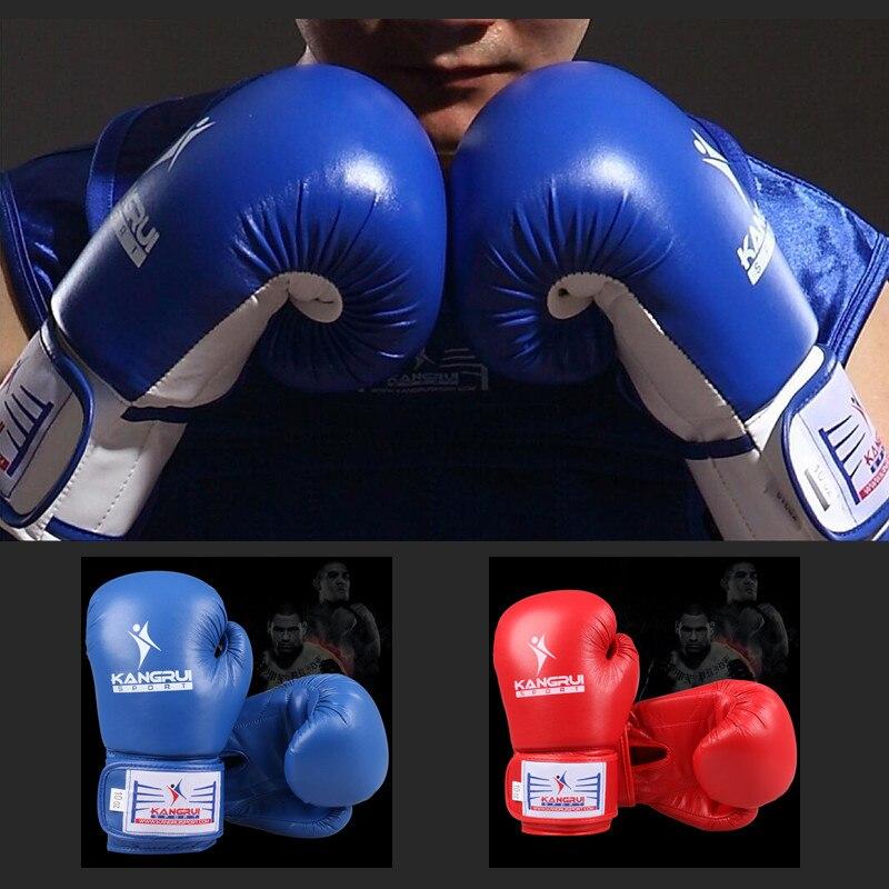KB318-2 Micofiber véritable cuir de vache 10 oz adulte homme femmes combat professionnel gants de boxe kickboxing MMA luvas de boxe gant