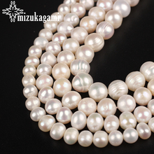 6 7 8 9 10mm Natural Pearl Beads AA+ Quality White Round Natural Freshwater Pearls Beads For DIY Jewelry Making Accessories