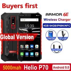 Смартфон Ulefone Armor 6E, водонепроницаемый, IP68, NFC, прочный мобильный телефон, Helio P70, Otca-core, Android 9,0, 4 Гб + 64 ГБ, Беспроводная зарядка, 4G
