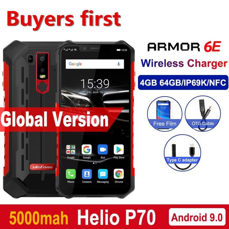 Ulefone Armadura 6E IP68 NFC Acidentada Telefone Celular À Prova D' Água Helio P70 Otca-núcleo Android 9.0 GB + 64 4 GB 4 carga sem fio G de Smartphones