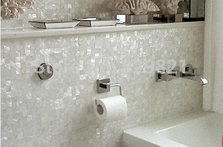 tienda online cscara blanca natural mosaico azulejo para lavabo de la cocina de televisin backgplash decoracin de la pared madre de pearl bao de mosaico