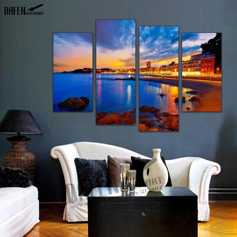 4 Panel Leinwand Wandkunst Blendendes Licht in den Staub Leinwand ...