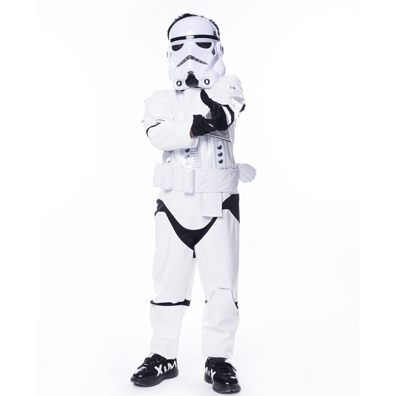 2017 Kids Star Wars Darth Vader Costume Movie The Force Awakens Storm Troopers Halloween Costume Kids Party Fancy Dress