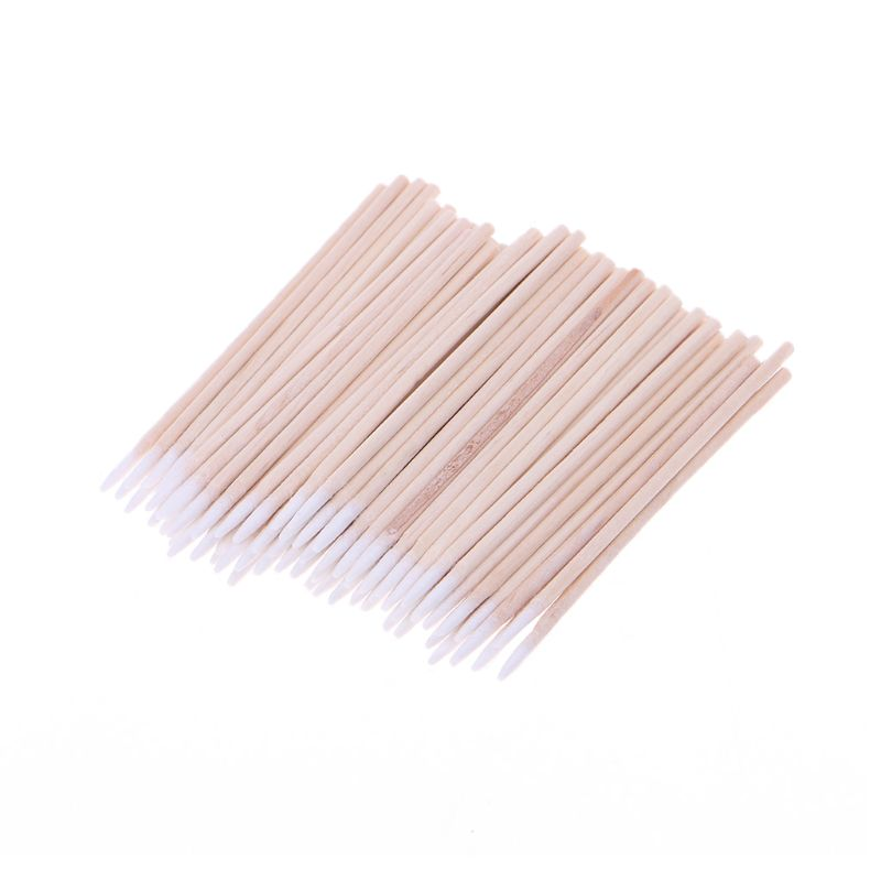 100pcs/pack Cotton Swabs Cleaning Tools For IPhone Samsung Huawei Charging Port Headphone Hole Cleaner Phone Repair Tools-#