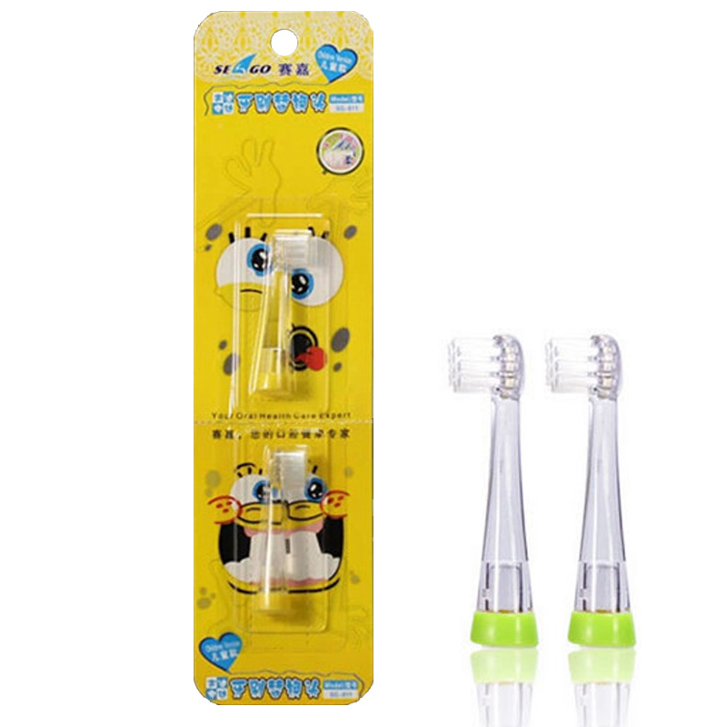 Baby Toothbrush Heads YCSG-8110 2pcs=1pack For Sonic Electric Toothbrush (SG902/602) Children Replacement Brush Head Ultral Soft 2pcs philips sonicare replacement e series electric toothbrush head with cap