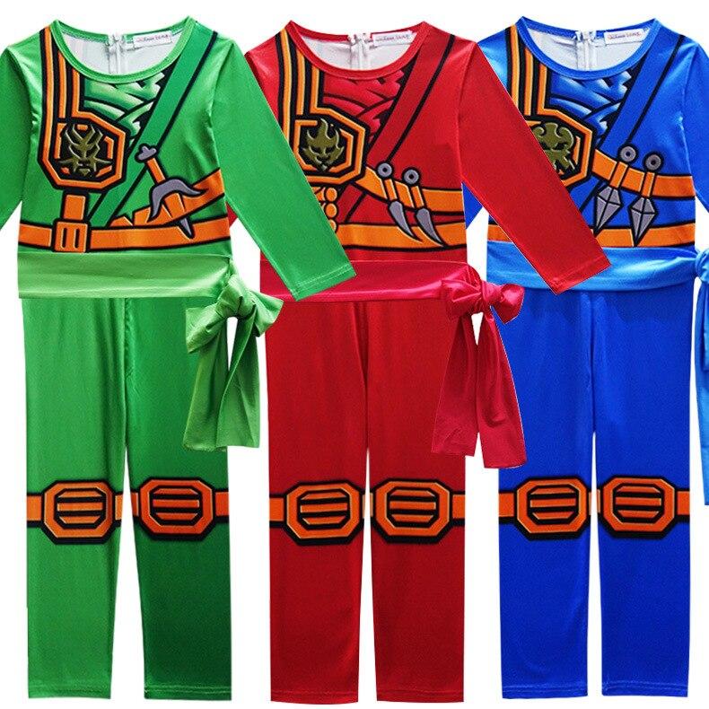 Disfraz de Ninjago para niños, niñas, niños, la increíble máscara de Hombre Araña, traje de niño, spandex, Cosplay de halloween, ropa de spiderman ninja