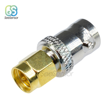SMA Male Plug to BNC Female M/F Radio Antenna Connector Adapter цена и фото