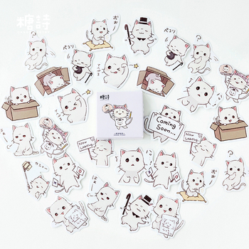 45pcs/lot Cute Selfie Cats Decorative Adhesive Stickers Scrapbooking DIY Diary Album Stick Label Stationery - discount item  10% OFF Stationery Sticker