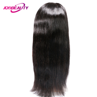Addbeauty 360 Swiss Lace Frontal Wig 150% Remy Brazilian Straight Human Baby Hair Pre Plucked Natural Hairline For Black Women