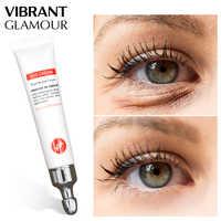 Crema de ojos GLAMOUR vibrante péptido colágeno suero antiarrugas removedor de edad ojeras cuidado de los ojos contra la Puffiness y bolsas