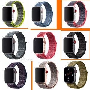 Image 1 - Nylon tkany pasek do iWatch 3 38mm 40mm 42mm 44mm pasek zegarka dla i oglądać 4 wymiana pasek