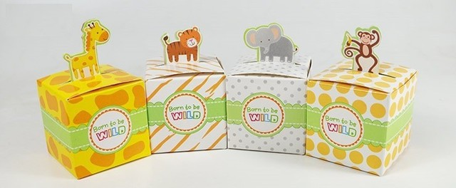 400pcslot Giraffeelephantmonkeytiger Animals Baby Shower Favors