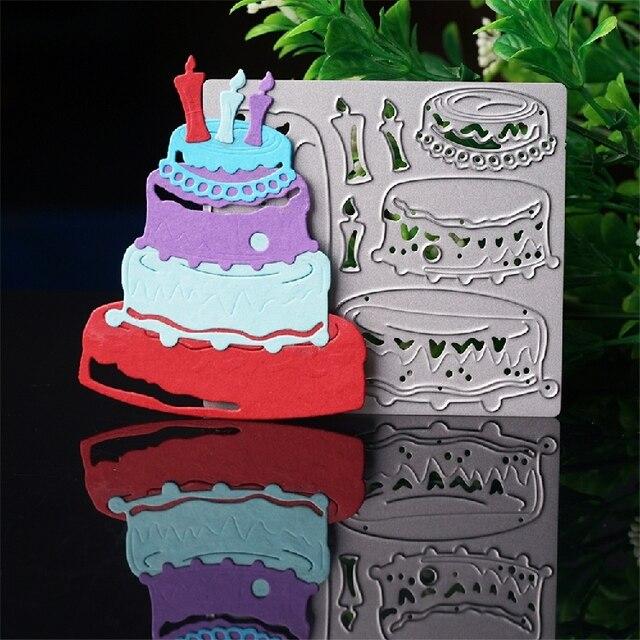 Birthday Cake Dies Cut Metal Cutting Dies Diy Scrapbooking Die Cuts