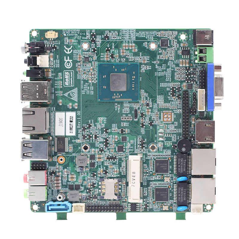 HD Graphics Quạt không cánh Win 10 Linux 2/4Lan 1 * mini PCIe J1900 máy tính công nghiệp Bo mạch chủ máy tính