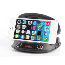 New Design Bluetooth Handsfree Car Phone Holders With Mini Speaker And FM Transmitter Mp3 Player
