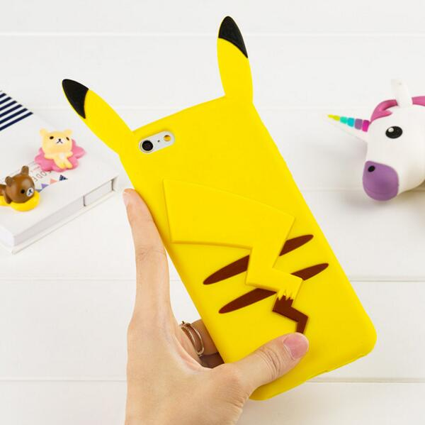 Belle cartoom mode 3D pokemon aller pikachu cas Pour apple iphone 5 5S 5G SE 6