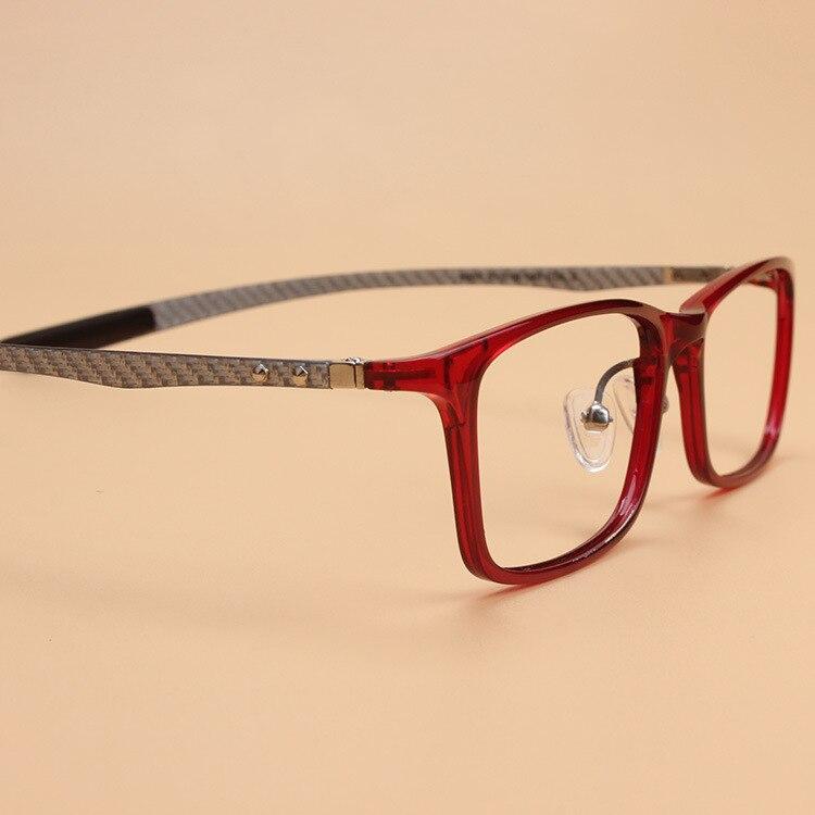 Men's Glasses Original Quality Ultra Light Ultem Carbon Fiber Tungsten Optical Myopia Glasses Frame Men Women Unisex Square Eyewear Blue Green Leg Apparel Accessories